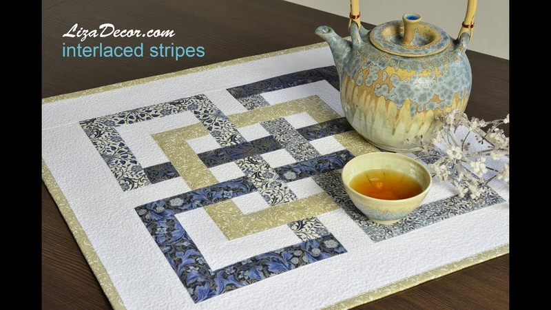 Patchwork tutorial Interlaced Stripes NEONE Ruler