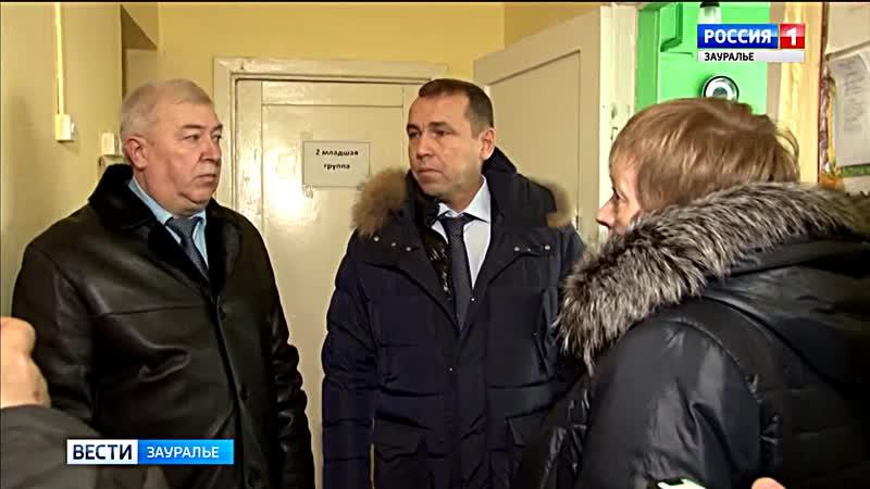 Губернатор В Шумков и глава администрации района С Кудрявцев на объектах в стадии ремонта