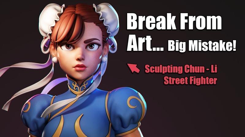 Don't Make This Mistake When Taking a Break From Art!   Sculpting Chun Li [Street Fighter]