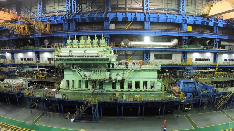 Construction of the most powerful LNG engine for the CMA CGM Jacques Saadé