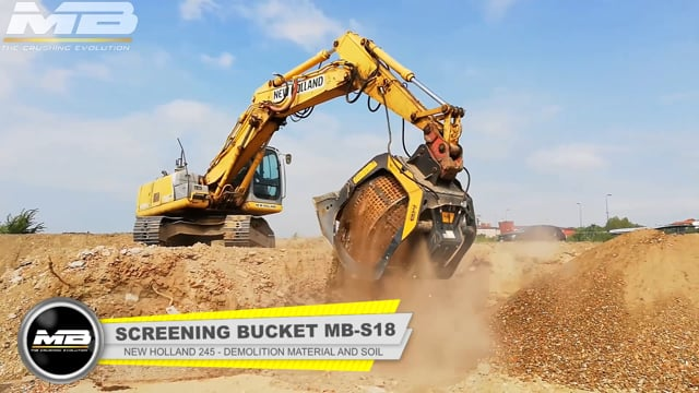 MB-S18 - New Holland 245 - Italy - Urban Jobsites - Recycling - Soil demolition waste