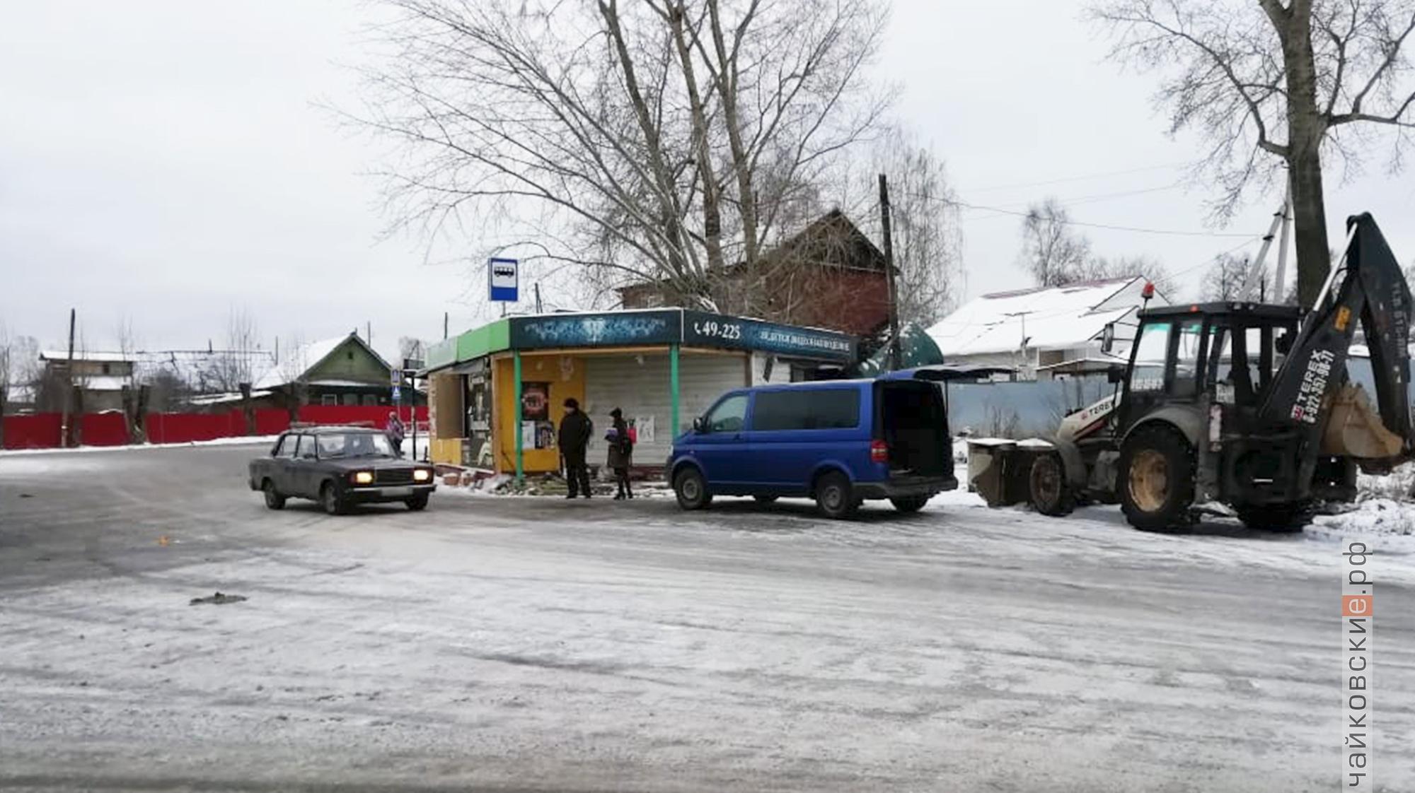 снос магазина, чайковский район, 2019 год