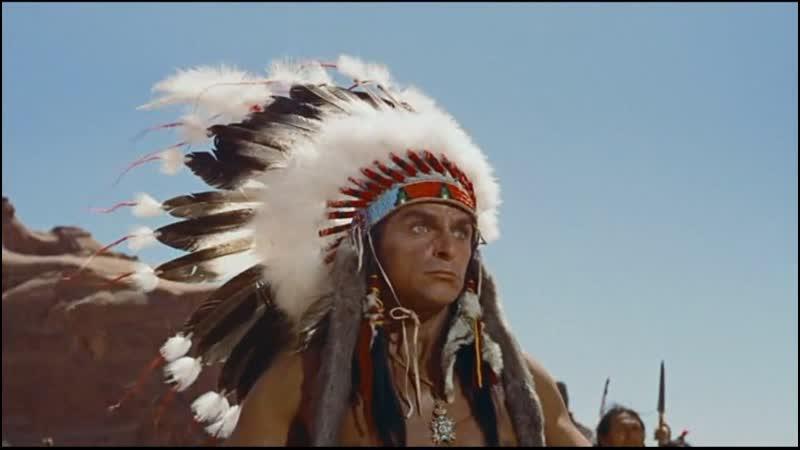 Искатели 1956 Бой Мартина и Итана с индейцами