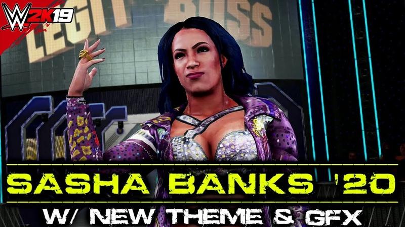 Sasha Bank 2020 w New Updated Snoop Dogg Theme WWE 2K19 PC Mods