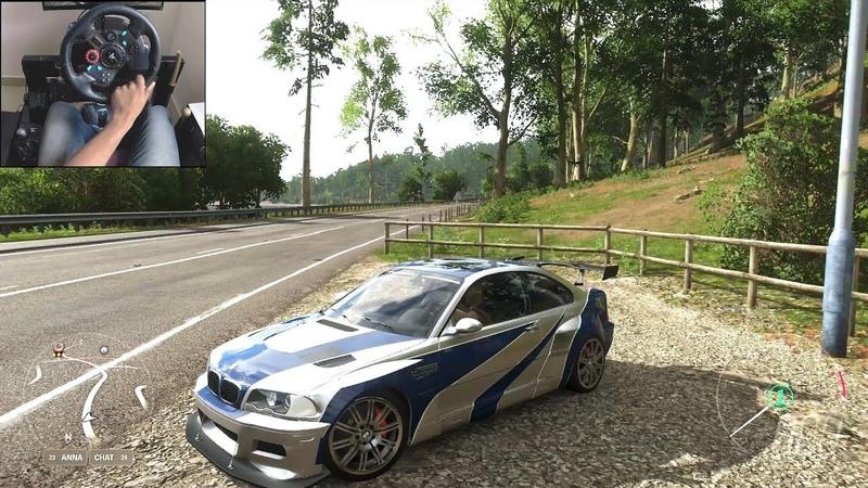 NFS Most Wanted M3 GTR Forza Horizon 4 Logitech g29 gameplay