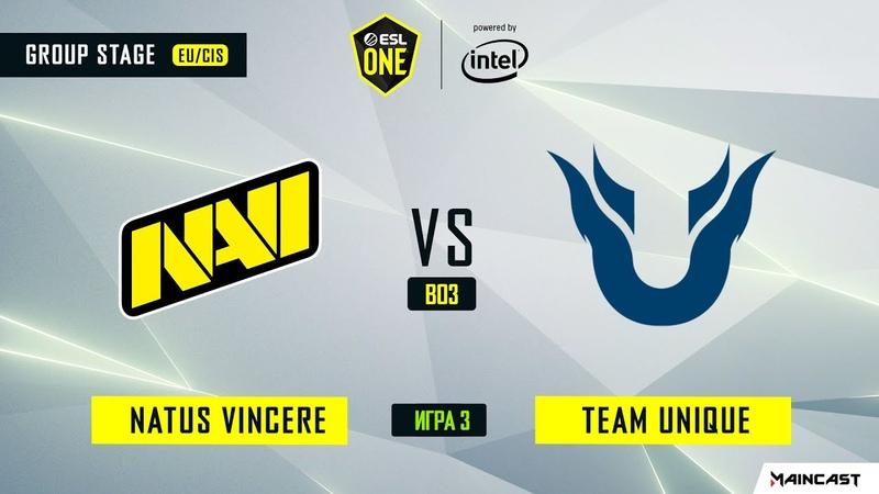 Natus Vincere vs Team Unique - Game 3, Group B - ESL One Los Angeles 2020 - Online Championship