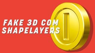 FAKE 3D COM SHAPELAYER NO AFTER EFFECTS | TUTORIAL
