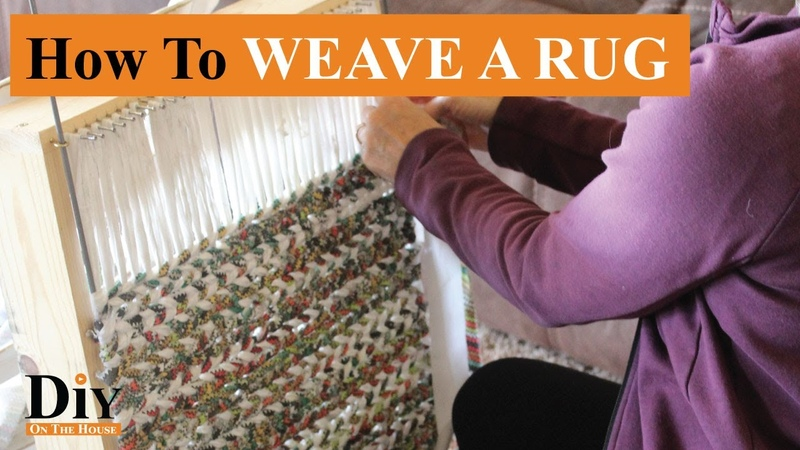 How To Weave a Rag Rug Using Scrap Fabric Easy Rug Weaving 101