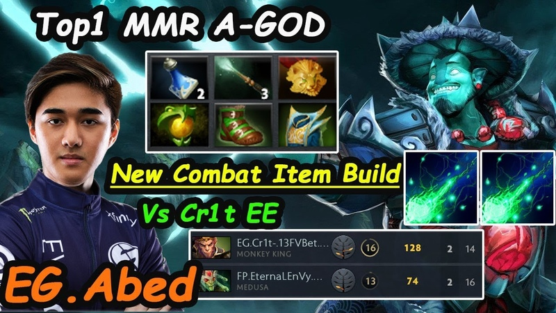 EG Abed [Storm Spirit] A-God MIDLANE TOP 1 MMR Stomp Enemy Dota 2 7.24