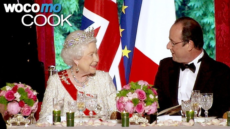 A French dinner for the Queen in the kitchens of the Elysee Palace