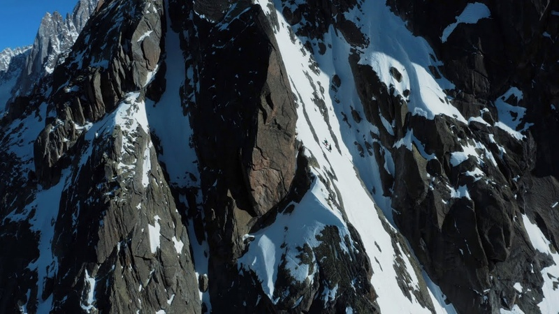 Yannick Boissenot and Julien Pica Herry first descent of the Beuf Sara couloir Chamonix