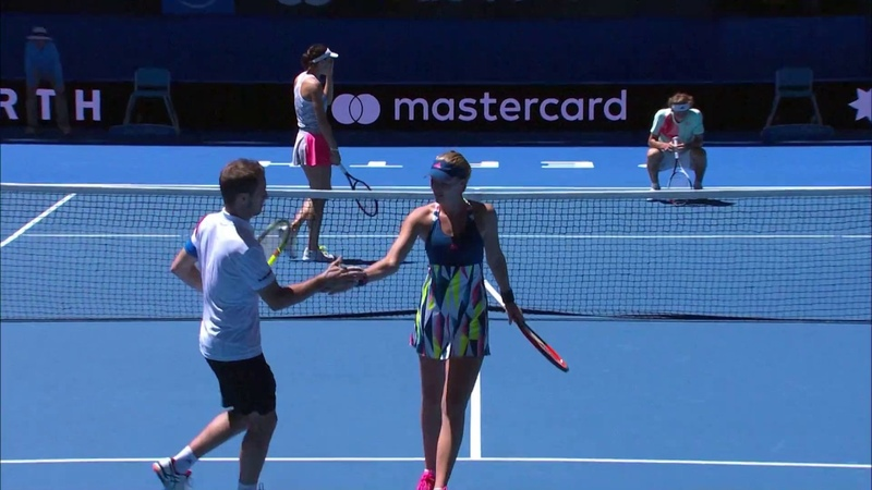 Petkovic facepalms after forgetting Fast4 rules Mastercard Hopman Cup 2017