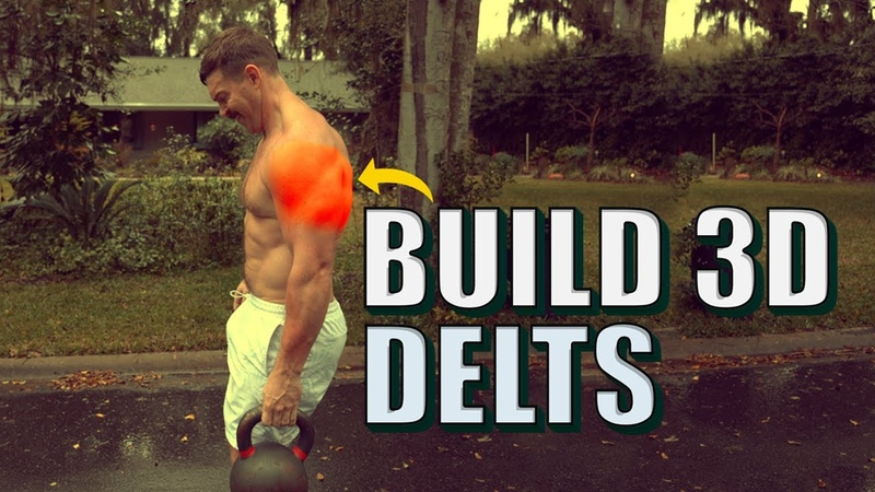 SAVAGE Single Kettlebell Shoulder Workout [Build Massive Muscular 3D Delts!] | Chandler Marchman