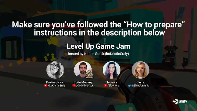 Your First Game Jam hosted by Kristin Elena Code Monkey and Eleonora