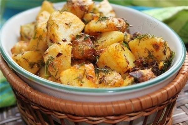 """""""Картошка по-бомбейски"""" (индийская кухня)"""