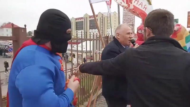 Провокация против Статкевича в Орше [backstage]