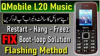 QMobile L20 Music Flash File | QMobile L20 Music Firmware | Fix Hang QMobile L20 With Miracle Crack