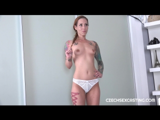 CzechSexCasting - Foxy Sanie - Czech Tattooed Girl Foxy Sanie Порно,Минет,Секс,На камеру,Чешское,ЦП
