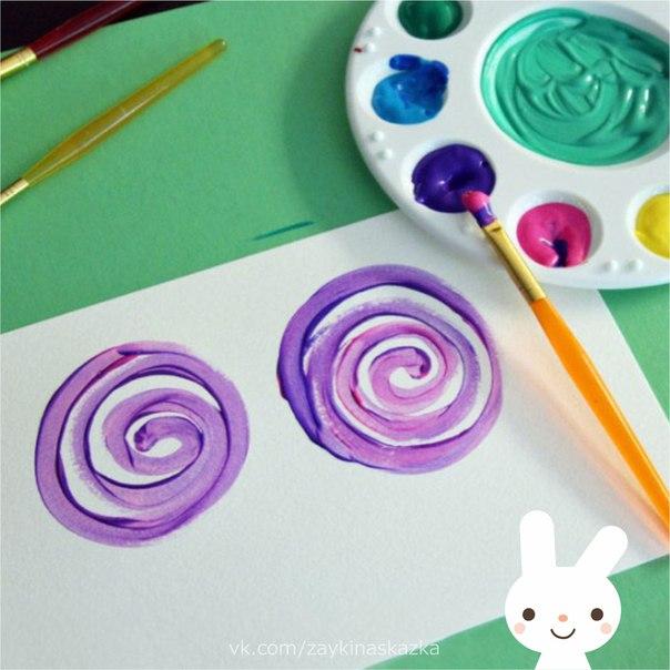 РИСУЕМ ЦВЕТЫ ЗАВИТКАМИ Простое рисование для детей