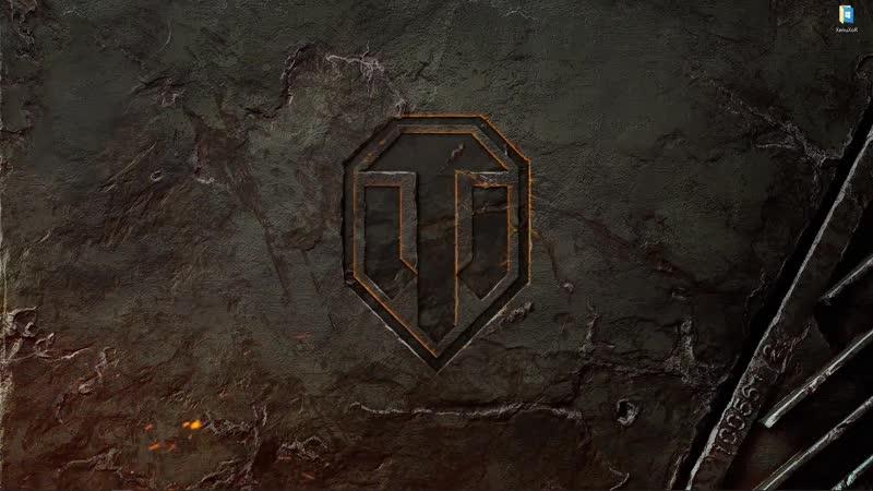 Искрящий логотип игры World Of Tanks живые обои для Wallpaper Engine