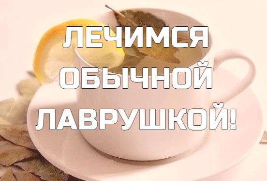 ЛЕЧИМСЯ ОБЫЧНОЙ ЛАВРУШКОЙ!