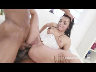 [ / ] Double Anal Creampie with Squirting, Daphne Clyde gets 2 BBC and drinks Squirt with Balls Deep