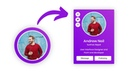 Animated Profile Card with Hover Animation in HTML CSS JavaScript