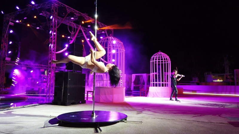 Pole Dance Show at Birthday Party | Duo with Violinist Alex Greg
