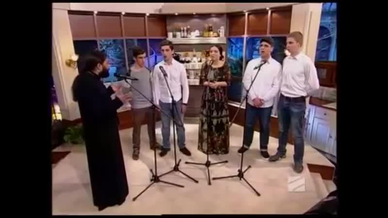 Схиархимандрит Серафим Бит Хариби и Nino Basharuli Cherubic song Херувимская
