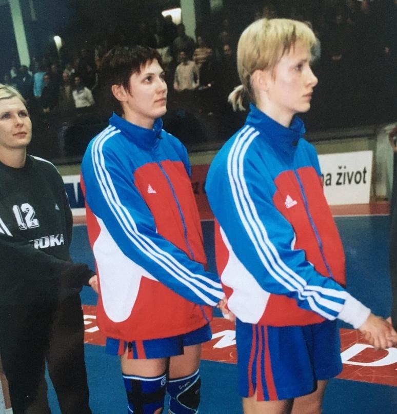 На исполнении гимна с Инной Суслиной и Мариной Наукович