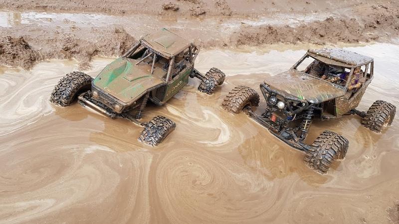 Вот на что можно смотреть ВЕЧНО Грязь грязь грязь Axial Capra и Wraith