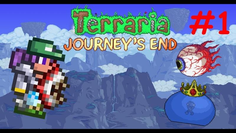Terraria 1 4 Master Mode 1 Глаз Переросток и Скользкий Король