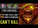 WTF 1v5 CAN'T KILL 70% Lifesteal With Repel Buff Unkillable Bristleback 7.24 Cancer Dota 2