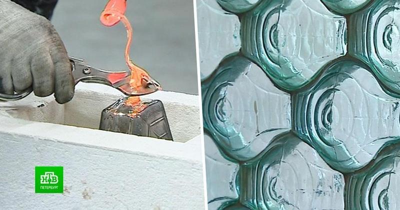 Вершина стеклоделия в Петербурге возродили производство кирпичей Фальконье