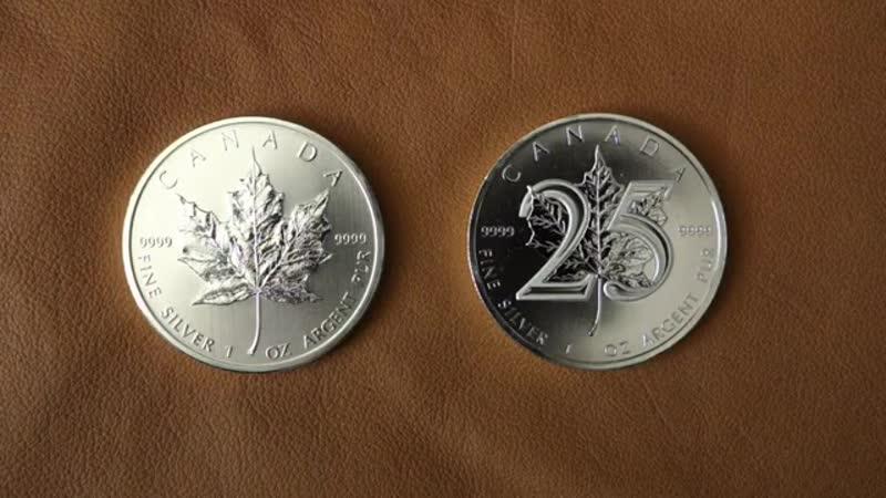 СЕРЕБРЯНЫЙ КАНАДСКИЙ ЛИСТ Основная инвестиционная монета Канады
