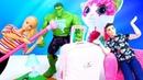 Видео для девочек про игрушки из мультфильмов. Халк мешает Барби и Кену спать! Тайная жизнь игрушек