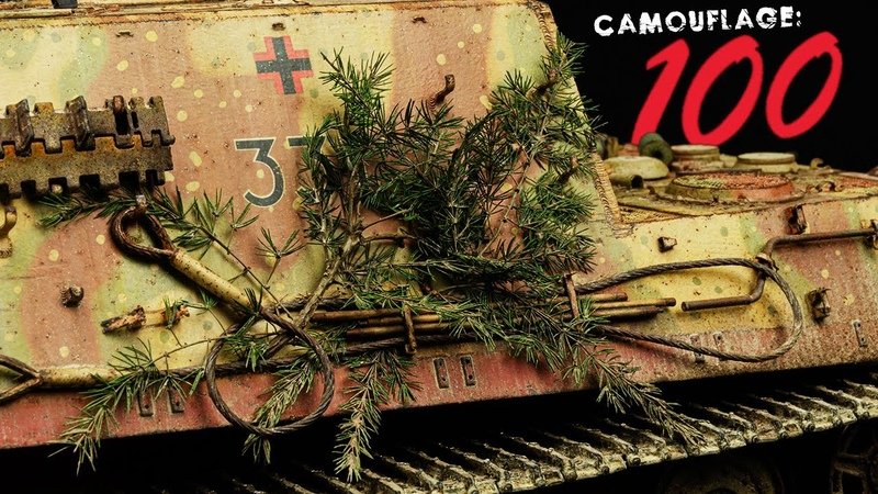HOW TO Tree Branch Camouflage for Armor Models and Dioramas