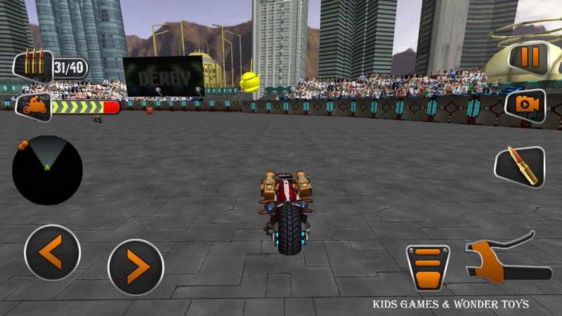 Demolition Derby|Future Bike Wars|bike wars simulator|attack motorbike rivals|derby robot bike HD9