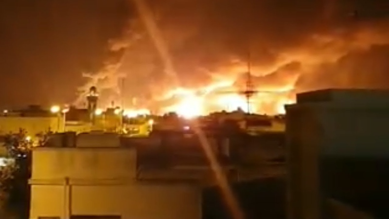 Explosions in Saudi Arabia's Oil Facilities in Buqayq Attributed to Drone Attack