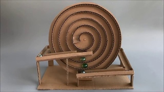 #How to make spiral Marble Machine   cardboard Toy   #YouTube #youtube