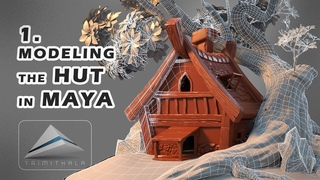 1. Hut | Modeling a Hut in Maya | Tutorial 1| Making 3D Scene Step by Step