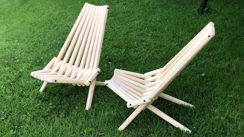 Wooden folding chair homemade
