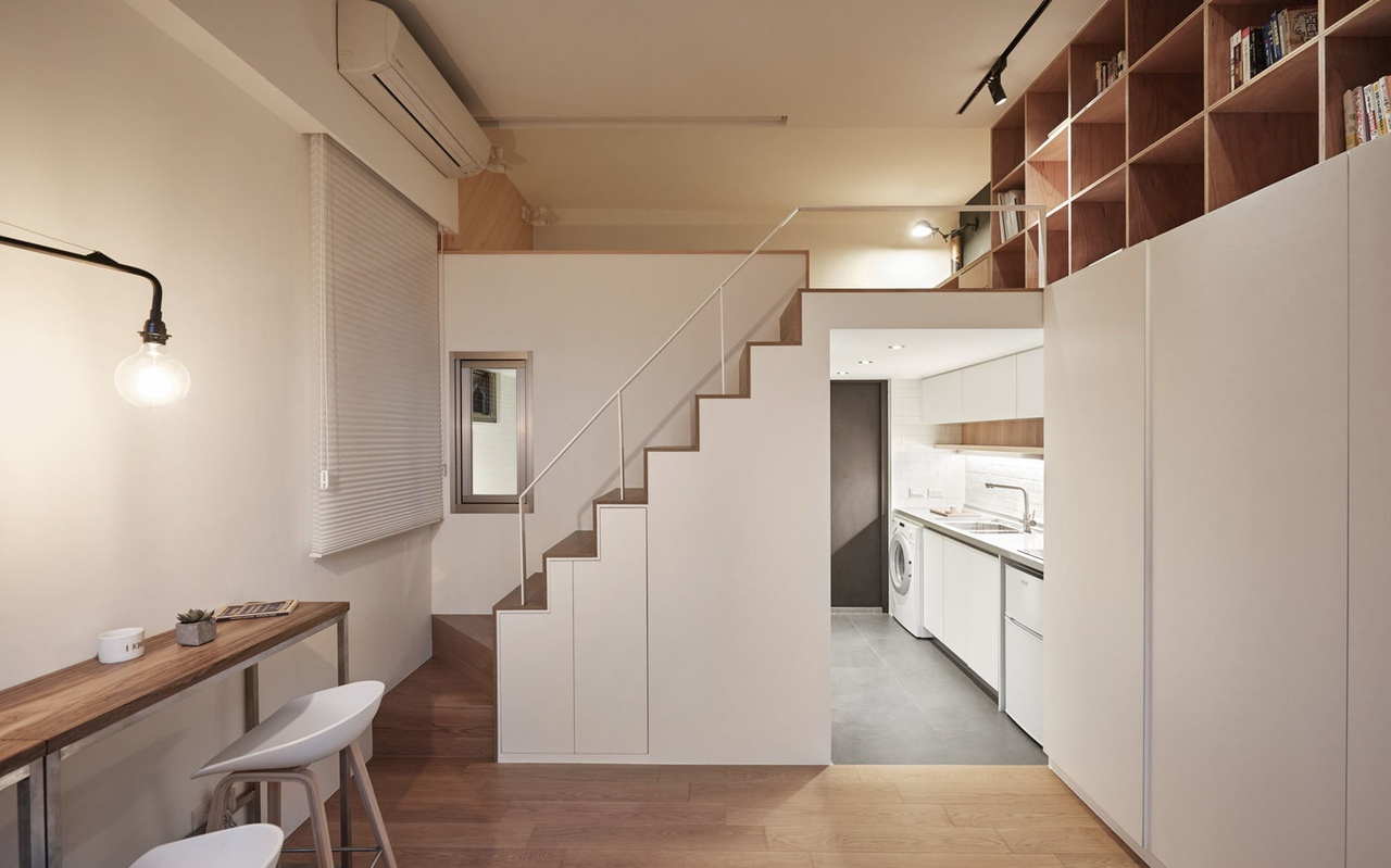 22m2 Apartment in Taiwan by A Little Design