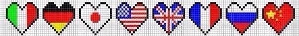 картинки по клеточкам флаги стран им, очень