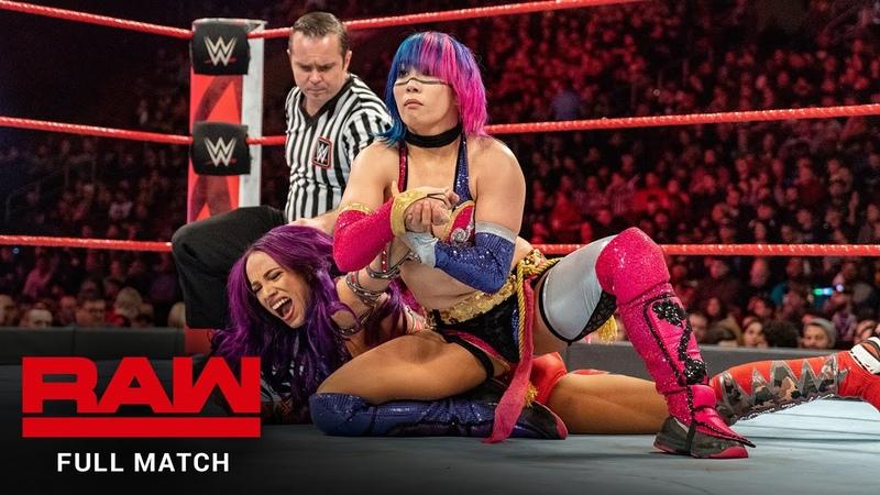 My1 Asuka vs Sasha Banks Raw January 29 2018
