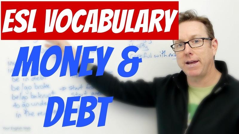 English vocabulary - MONEY and DEBT - palabras en inglés