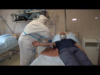 Медицинское обследование добровольцев Минобороны перед испытанием новой вакцины от COVID-19