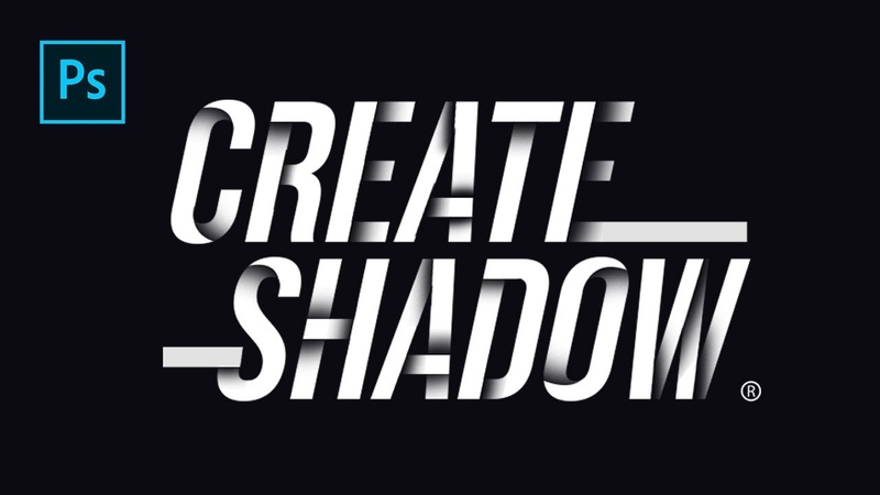 How To Create Drop Shadow on Text Line Photoshop Tutorials