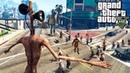 СИРЕНОГОЛОВЫЙ ВЫЖИВАЕТ В ЗОМБИ АПОКАЛИПСИСЕ В ГТА 5 МОДЫ! ОБЗОР МОДА В GTA 5! ВИДЕО ГТА ИГРЫ MODS