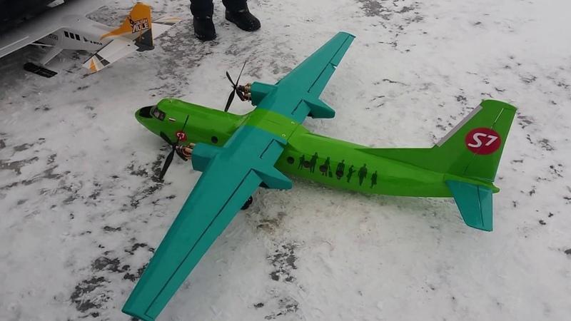 Зима, холод, ветер 10мс... и что! Зимние полёты радиоуправляемых моделей. Авиамоделизм.